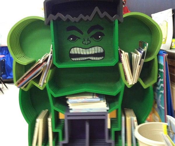 Marvel at this Incredible Hulk Bookcase
