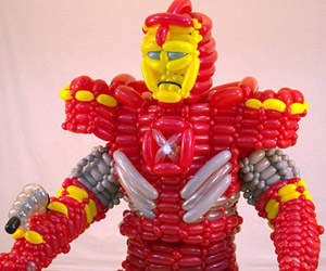 Life-sized Iron Man Armor Balloon Costume: Pop Go the Avengers