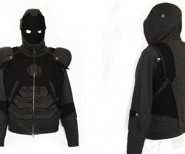 Iron Man Suit Hoodie has War Machine's Color and a T-shirt's Material