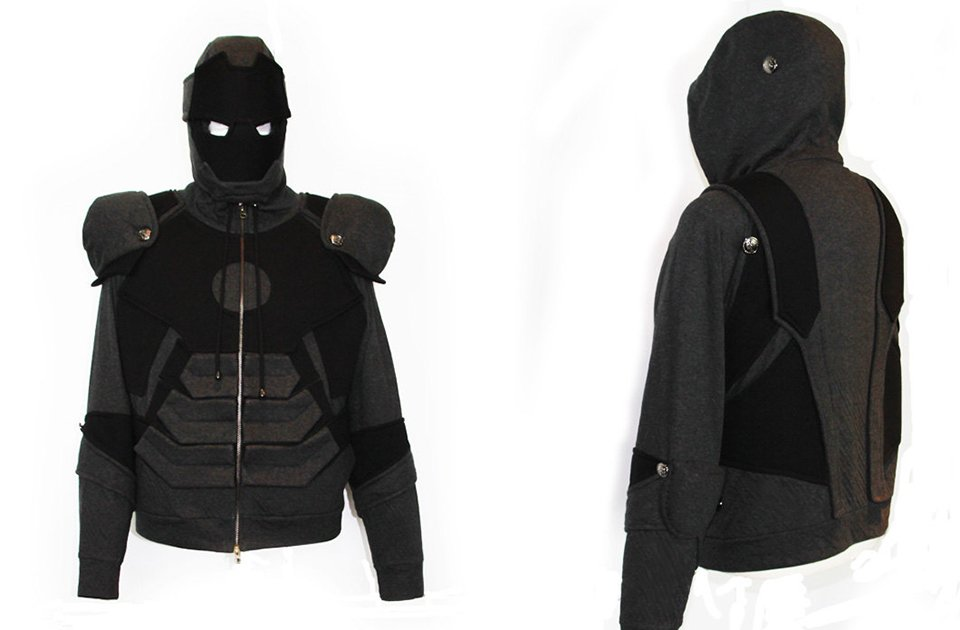 Iron Man Suit Hoodie has War Machine\u0027s Color and a T,shirt\u0027s