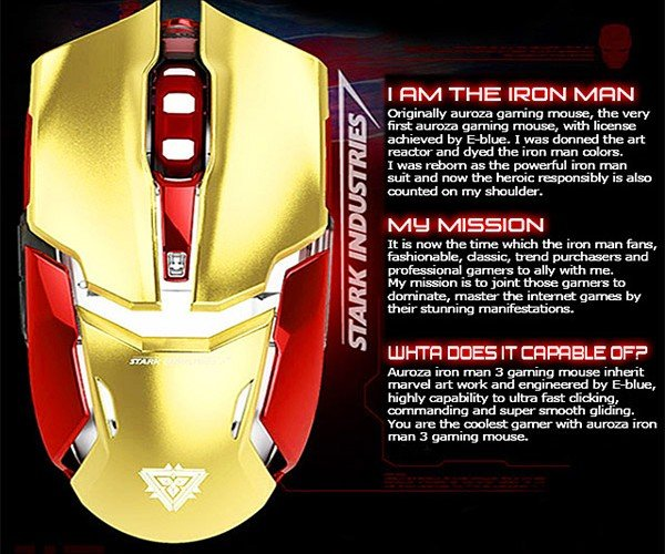Updated Iron Man 3 Gaming Mouse: Iron Mouse Mark II