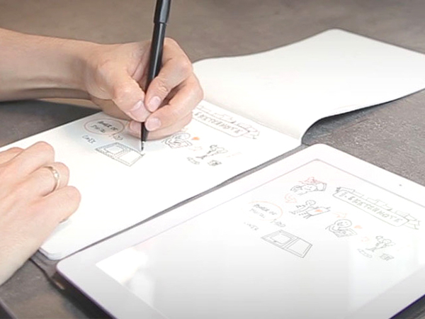 iSketchnote iPad Cover Digitizes Paper Doodles in Real Time