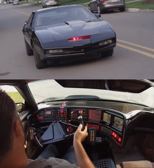 Guy Builds Knight Rider K I T T  Replica: K A R R  Better Watch out