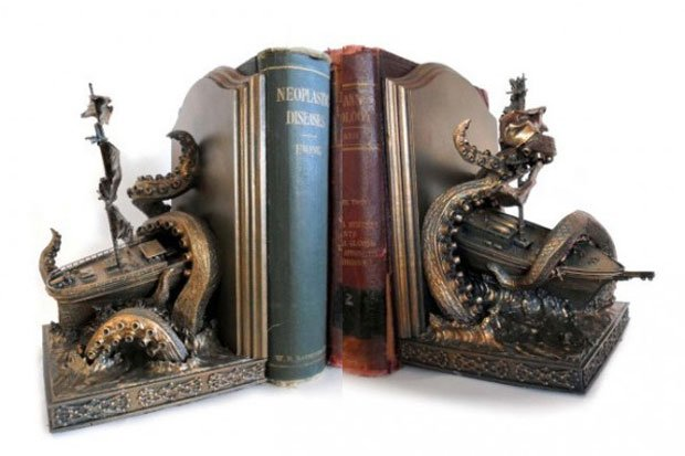 Kraken Bookends Aren't Recommended for Seafarers