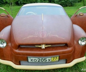 Car Gets Completely Covered in Leather