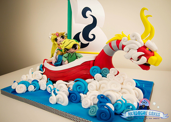 legend of zelda wind waker cake by nerdache cakes