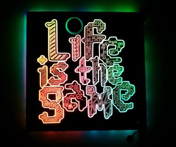 Light Up Circuit Board Art: eLEDtronic