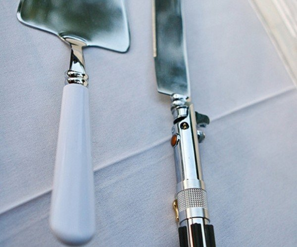 Lightsaber Wedding Cake Knife: An Elegant Cutlery for a More Civilized Age