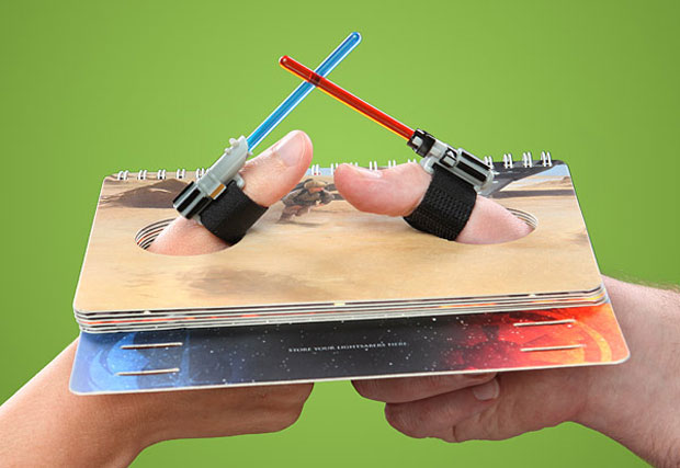 One, Two, Three, Four… I Declare Lightsaber Thumb War
