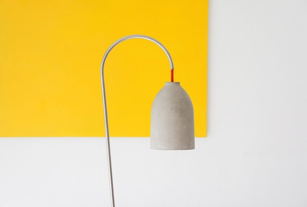 lightzero lamp 220plus concrete yellow