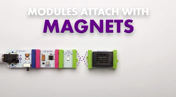 littleBits Modular Magnetic Electronics Kits: No Solder, No