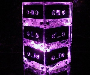 Cassette Tape Lamps Won't Ever Get Jammed in Your Deck
