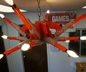 Nintendo Light Gun Chandelier Zaps the Darkness Away