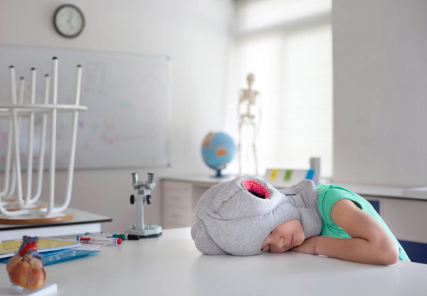 Ostrich Pillow Junior: Bury Your Head on Your Desk, Kids!