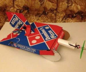 Pizza Box Airplane: Fly Pepperoni Airlines