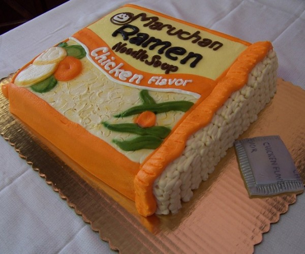 Chicken Flavored Ramen Noodle Cake, Just Add Hot Water (or Not)