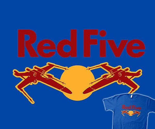 Star Wars Red Five T-Shirt: Force Drink