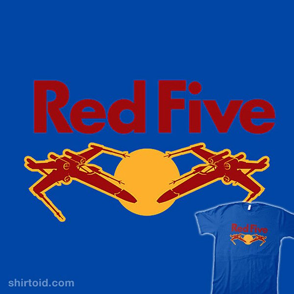 red five star wars red bull t shirt by huckblade