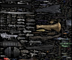 A Visual Comparison of Sci-Fi Spaceships