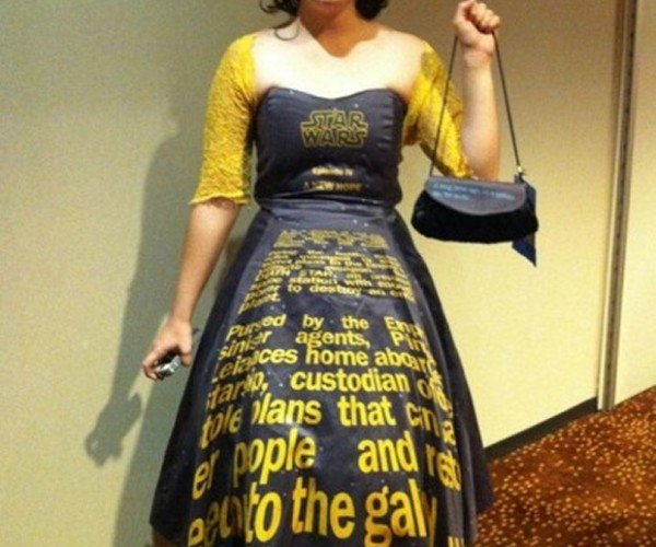Star Wars Opening Crawl Dress: Does This Text Make Me Look Fat?