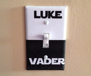 Star Wars Luke/Vader Switchplates: Which Side Are You on?