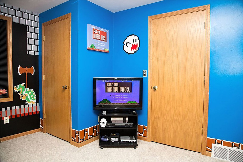 super mario bedroom 3