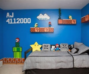 Cool Parents Make Super Awesome Super Mario Room for Their Daughter