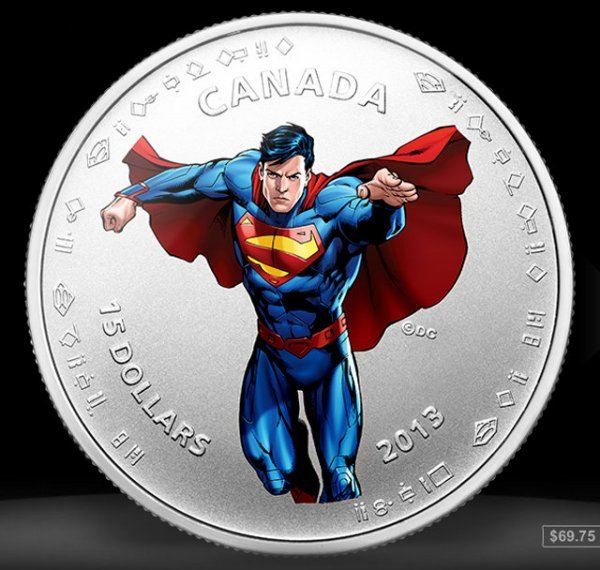 Superman 75th Anniversary Coins from the Canadian Mint: It's a Bird, It's a Coin! - Technabob