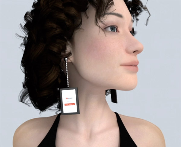 Video Earrings: Stream Clips on Your Lobes