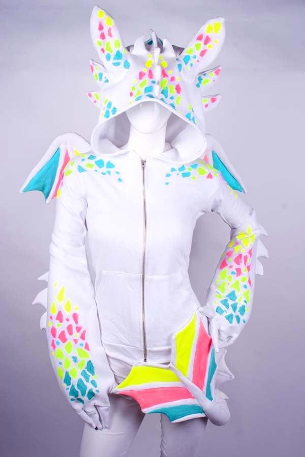white dragon hoodie