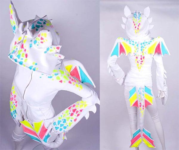 white dragon hoodie 2a