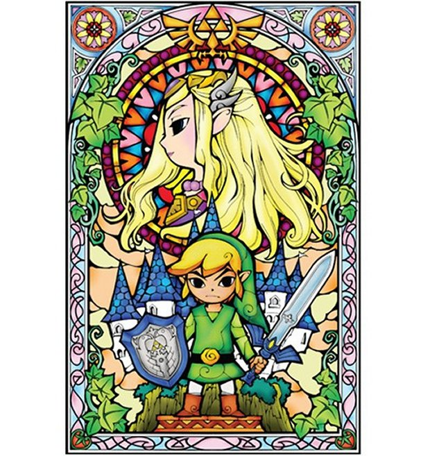 zelda stained glass decal