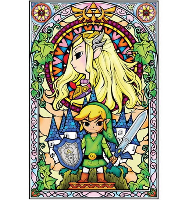 zelda stained glass decal2