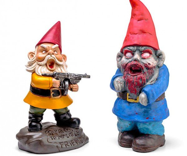 Zombie Garden Gnomes Aren't as Creepy as Normal Garden Gnomes