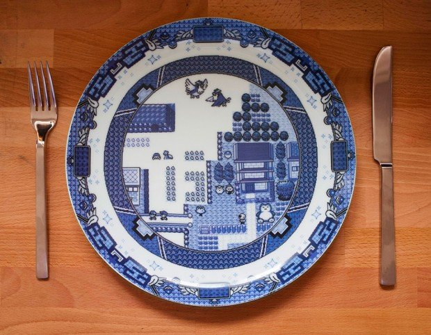 8 bit willow plates by olly moss 620x482