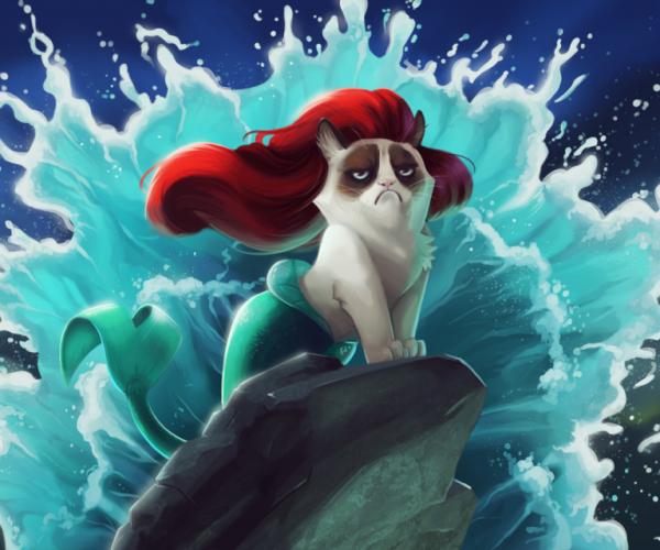 Grumpy Cat is Every Disney Princess