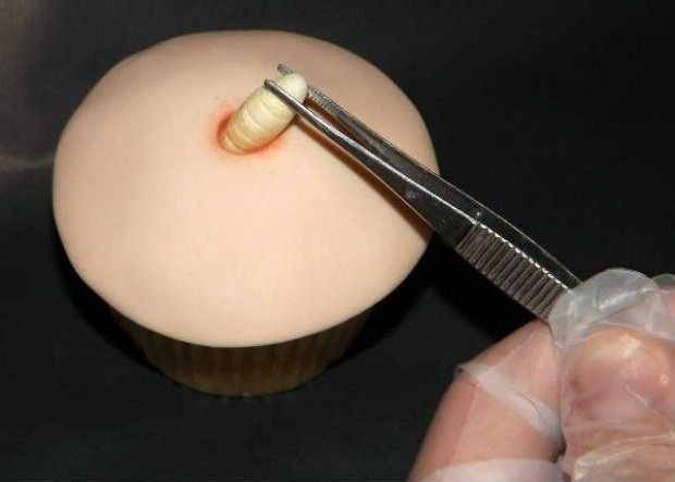 Grossest Cupcake Ever: Topped with a Maggot, Filled with Creamy Pus