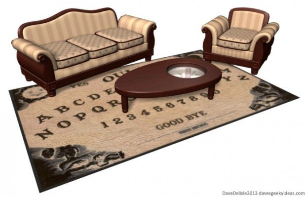 Ouija Board Rug and Coffee Table 620x399