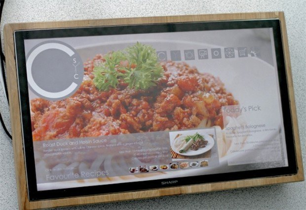 Sharp Cutting Board Tablet