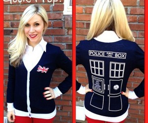 TARDIS Cardigan Keeps You Warm Through Time and Space