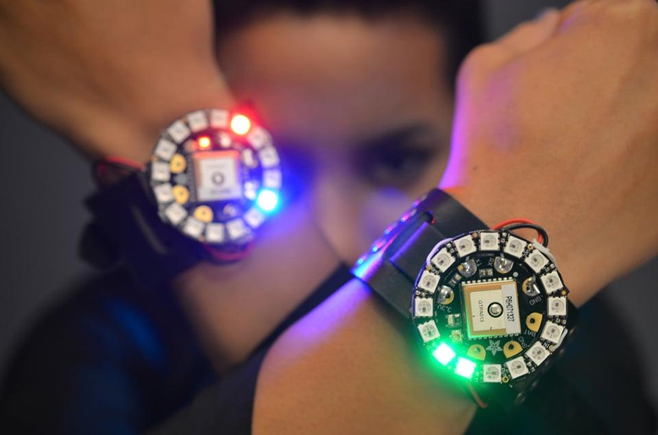 Adafruit diy led watch pixel o clock technabob