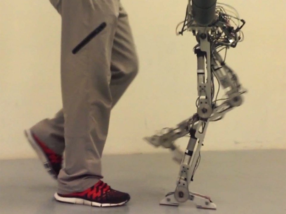 amber 2 robot mimics human foot movements technabob