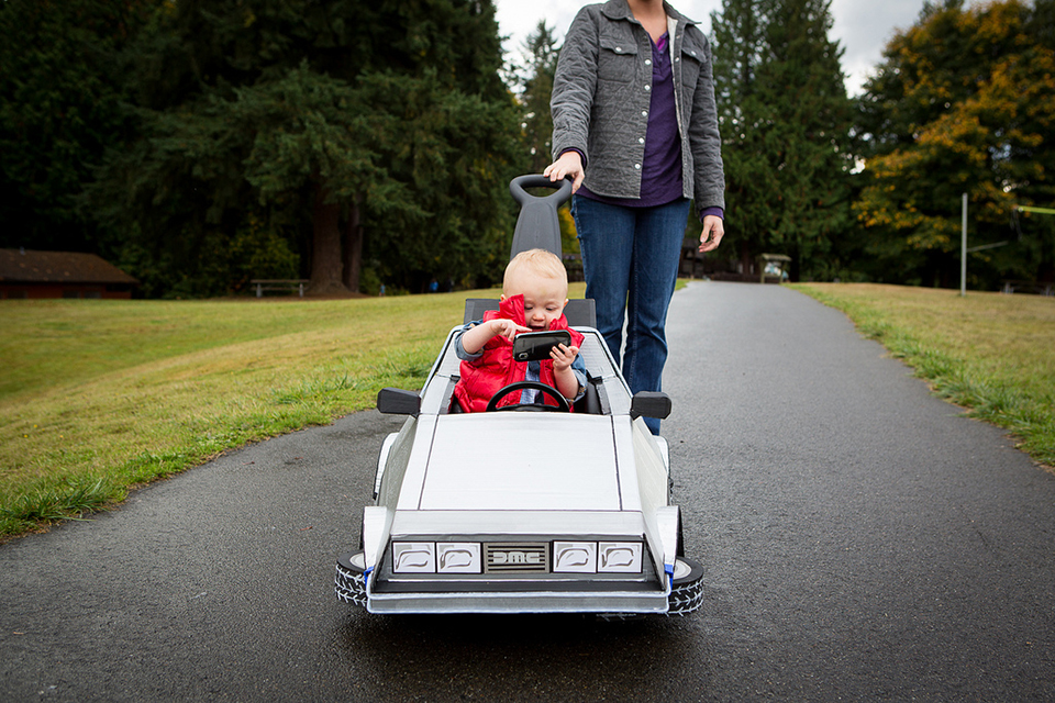 Back To The Future Delorean Kid S Push Car 1 21 Gigaawwww