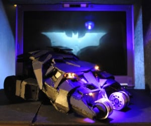 Batman's Tumbler Recycled from Dead PlayStation 2s
