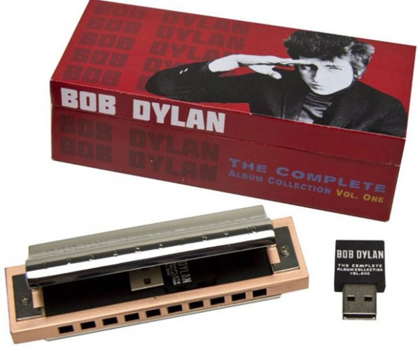 Bob Dylan Complete Collection Volume 1 to be available on a USB drive Stuffed inside of a Harmonica