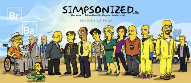 breaking bad simpsonized 620x271