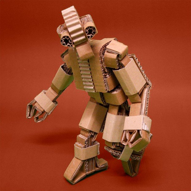 cardboard articulated robot 620x620