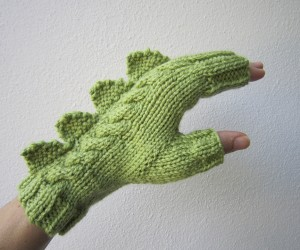 dragon dinosaur fingerless mittens by hotscones 2 300x250