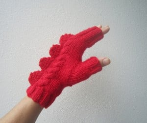 dragon dinosaur fingerless mittens by hotscones 3 300x250
