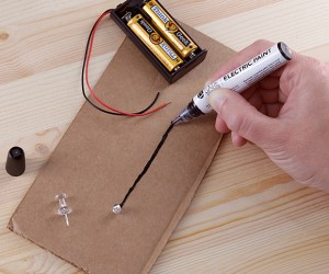 Electric Paint Pen Lets You Draw Your Own Circuits
